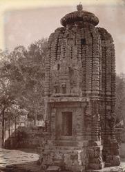 Side view of the Navagraha Temple, Bod